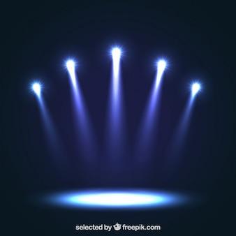 Niebieskie reflektory