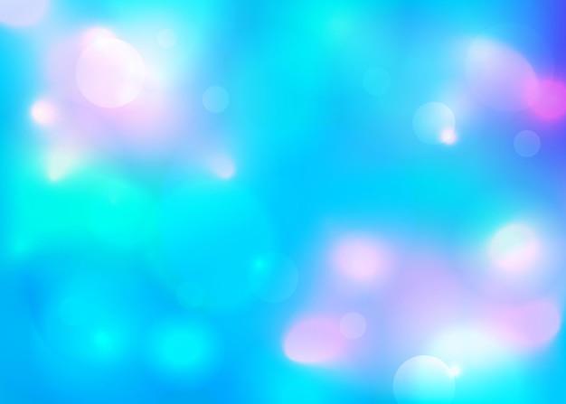 Niebieskie świąteczne eleganckie abstrakcyjne tło z blaskiem i światłami