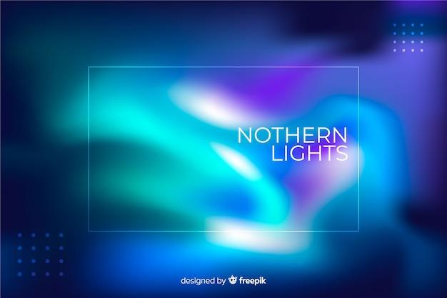 Niebieskie światła na tle północnego nieba