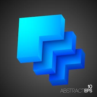 Niebieskie światło abstrakcyjne kształty na białym tle