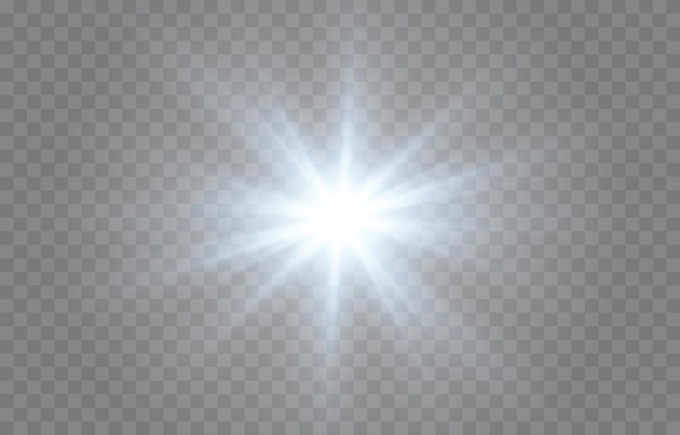 Niebieskie światło. słońce, promienie słoneczne