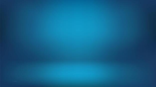 Niebieskie szerokie tło, ciemna abstrakcyjna ściana pokoju studyjnego, może posłużyć do zaprezentowania twojego produktu. abstrakcyjna ilustracja do tapet, teł slajdów i stron internetowych