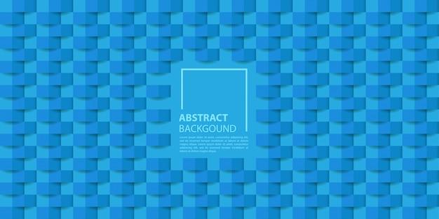 Niebieskie tło 3d styl papieru