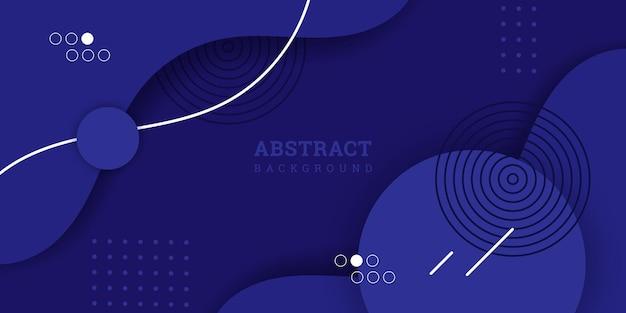 Niebieskie tło abstrakcyjne memphis baner o geometrycznych kształtach