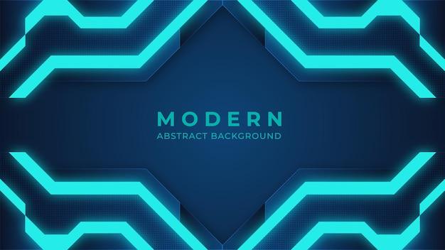 Niebieskie tło abstrakcyjne nowoczesne oświetlenie cyfrowe tło