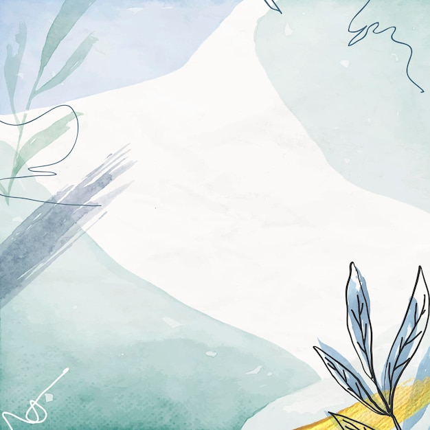 Niebieskie tło akwarela kwiatowy