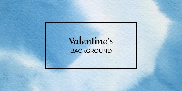 Niebieskie tło akwarela valentine tekstury