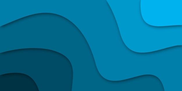 Niebieskie tło biznesowe w stylu cięcia papieru