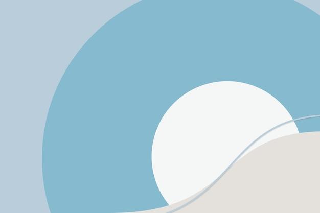 Niebieskie tło fali w stylu bauhaus