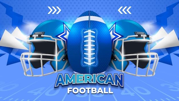 Niebieskie tło futbolu amerykańskiego