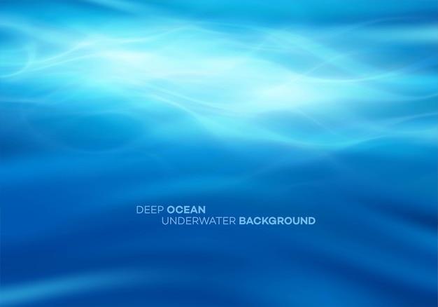 Niebieskie tło głębokiej wody
