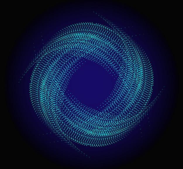 Niebieskie tło koła