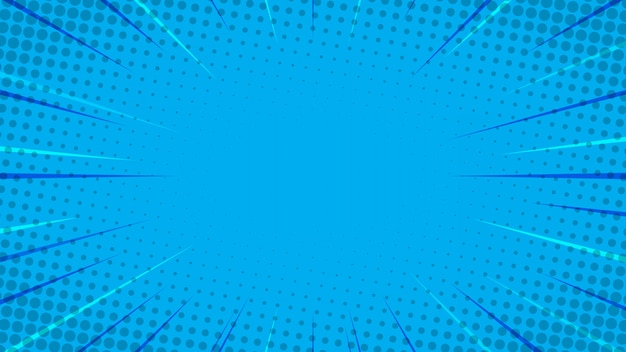 Niebieskie tło komiks stylu