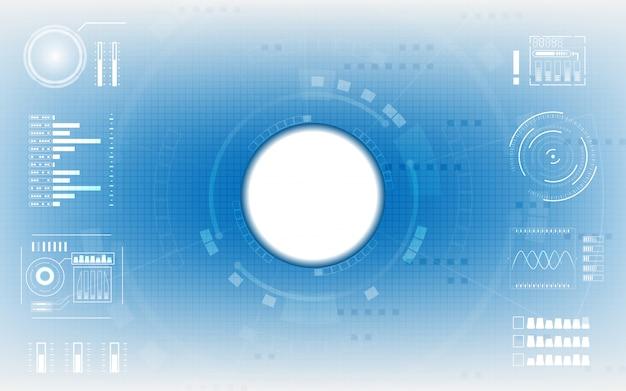 Niebieskie tło komunikacji cyfrowej
