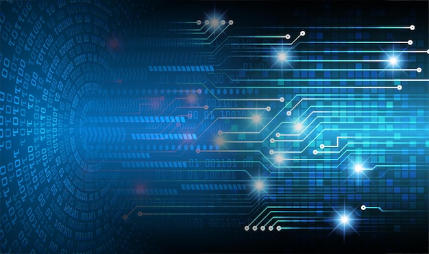 Niebieskie tło koncepcja technologii przyszłości obwodu cyber cyber
