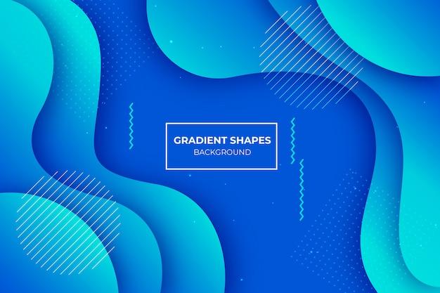 Niebieskie tło kształtów gradientu