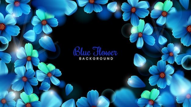 Niebieskie tło kwiat