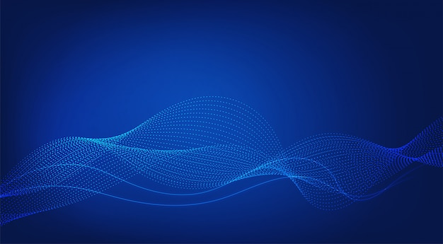 Niebieskie tło. linie wave modern.