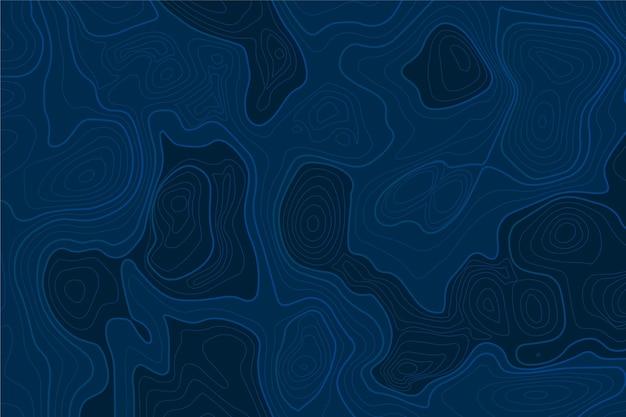 Niebieskie tło mapy topograficznej