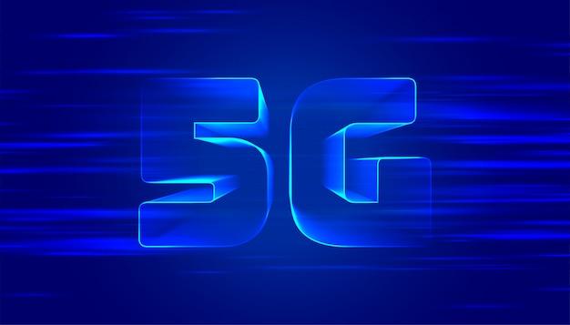 Niebieskie tło piątej generacji technologii 5g