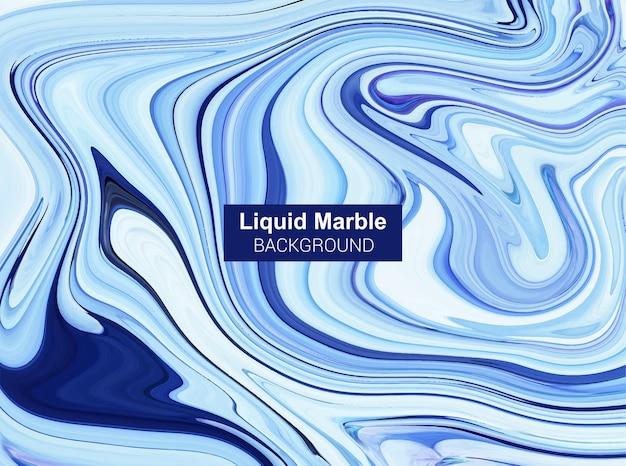 Niebieskie tło płynnego marmuru