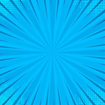 Niebieskie tło pop-artu. streszczenie tekstura retro.