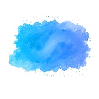Niebieskie tło powitalny akwarela