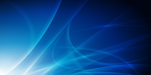 Niebieskie tło przepływu światła
