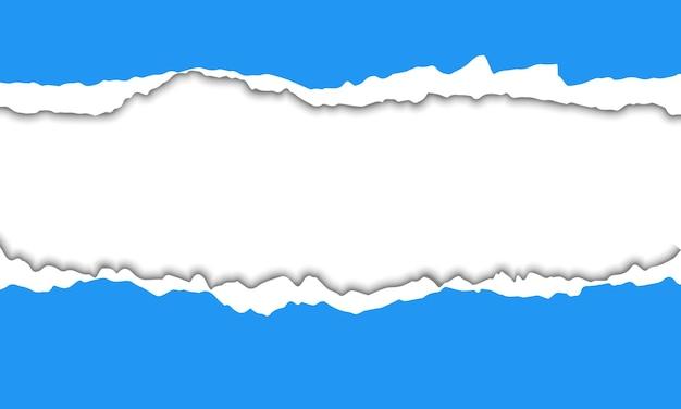 Niebieskie tło rozdarty papier. najlepszy projekt dla twojej firmy.