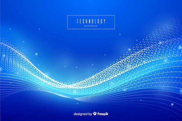 Niebieskie tło streszczenie technologii