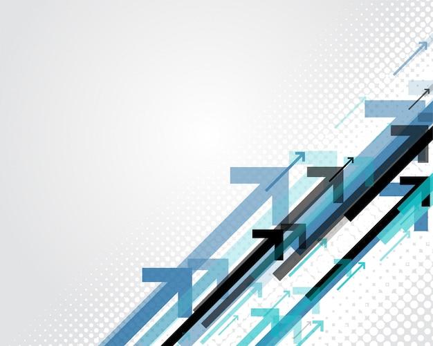 Niebieskie tło stylu biznes strzałki