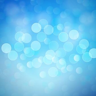 Niebieskie tło światła bokeh