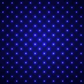 Niebieskie tło świecące kropkowane. efekt świetlny. .