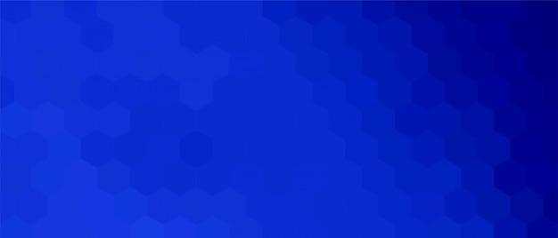 Niebieskie tło sześciokątne