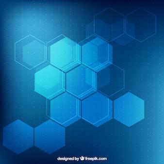 Niebieskie tło sześciokąty