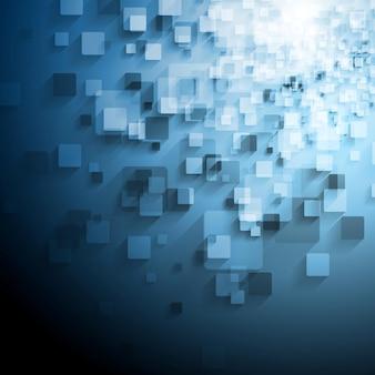 Niebieskie tło techniczne z kwadratów. projekt wektorowy