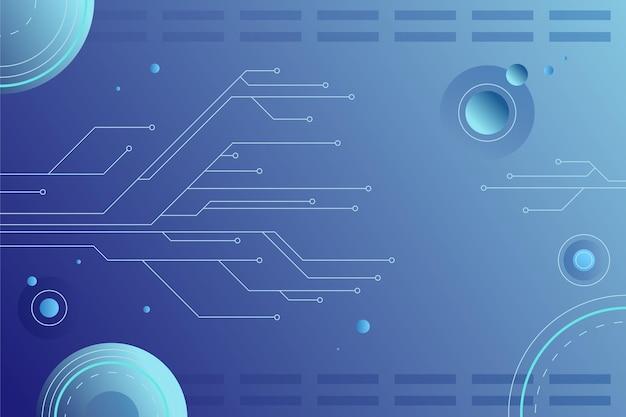 Niebieskie tło technologii gradientu