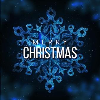 Niebieskie tło wesołych świąt