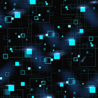 Niebieskie tło wzór geometryczny z technologią cyfrową