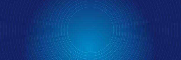 Niebieskie tło z liniami okręgu.