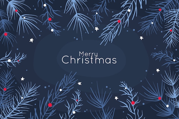 Niebieskie tło z motywem świątecznym