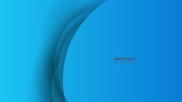 Niebieskie tło z nowoczesną koncepcją korporacyjną. warstwa papieru koło niebieski streszczenie tło. krzywe i linie do banerów, prezentacji, okładek, plakatów, tapet, projektów z miejscem na tekst
