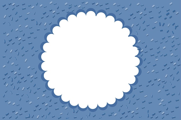 Niebieskie tło z okrągłą ramką