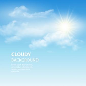 Niebieskiego nieba tło z malutkimi chmurami