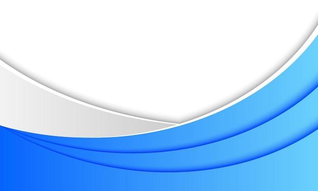 Niebiesko-białe tło kształtu krzywej. wzór na baner biznesowy.