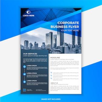 Niebiesko-czarna nowoczesna ulotka korporacyjna