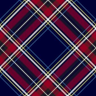 Niebiesko-czerwony kratkę kratę tekstylny wzór