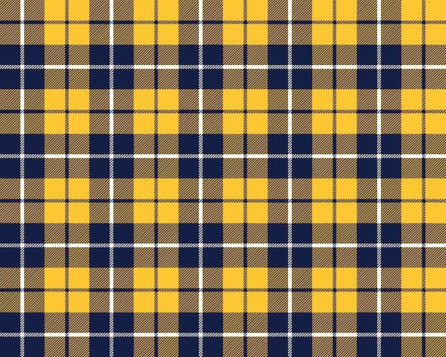 Niebiesko-pomarańczowy kratę tkanina tekstura wzór bez szwu