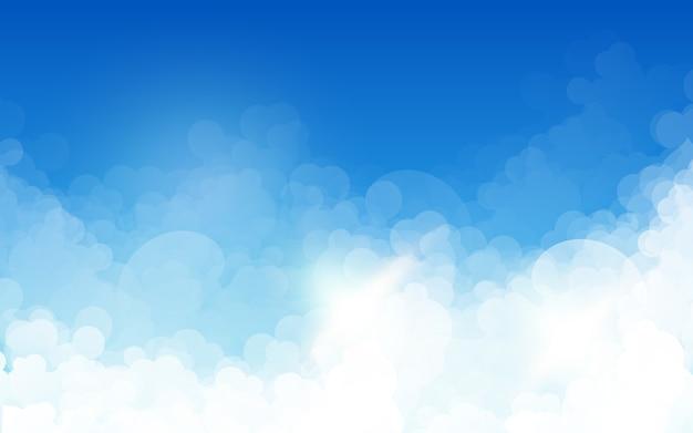 Niebo i chmury streszczenie tło