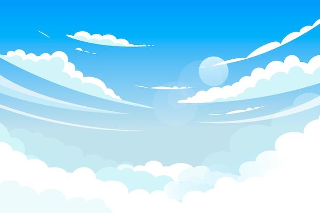Niebo - tło do wideokonferencji